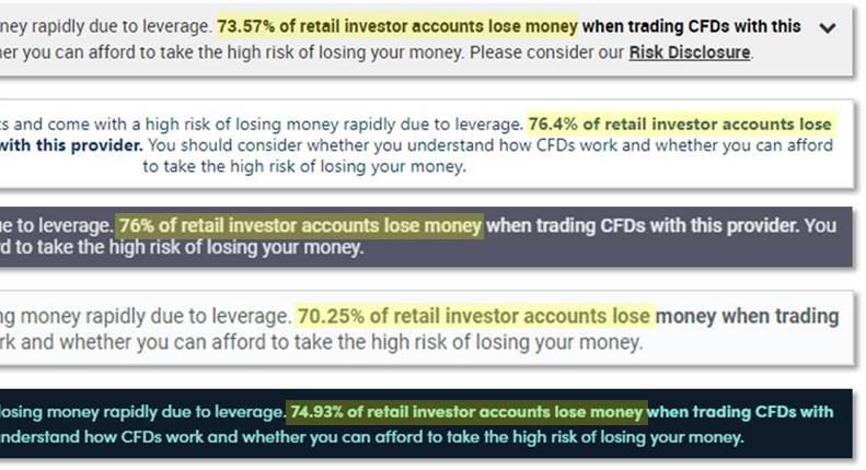 brokers risk disclurures